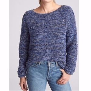 Gap // Navy, Blue Wide-neck Space Dyed Sweater M
